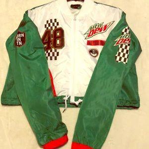 Forever 21 Mountain Dew bomber jacket